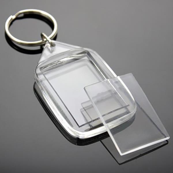 blank arcylic keyring 30mm x 24mm