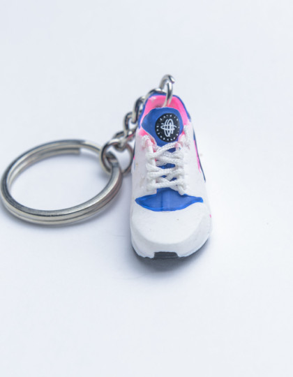 3D Exclusive Blue Pink Retro Nike Air Huarache keyring trainers 3