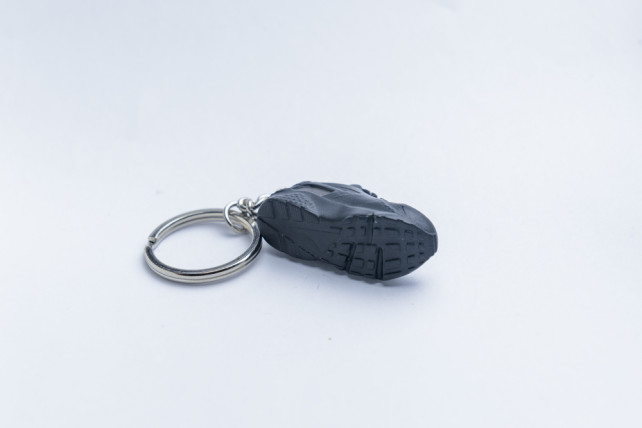 3D Exclusive Triple Black Retro Nike Air Huarache keyring trainers