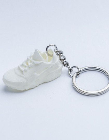 3D Exclusive Triple White Retro Nike Air Huarache keyring trainers 3