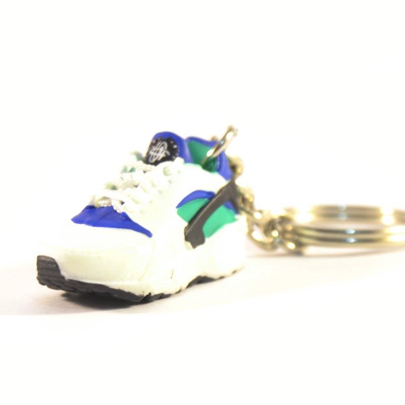 7049a9ab6730 3D Nike Air Huarache Blue Green Trainer Keyring - Kool keyringsKool keyrings