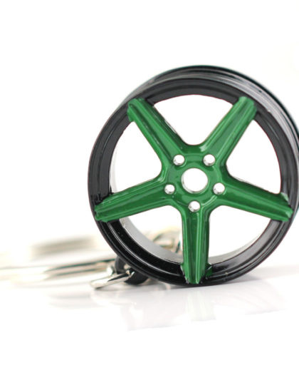 MB Design Rims Keyring Black Green
