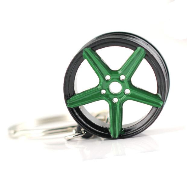 MB Design Rims Keyring Black Green