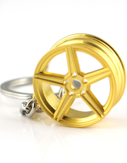 MB Design Rims Keyring Matt Gold