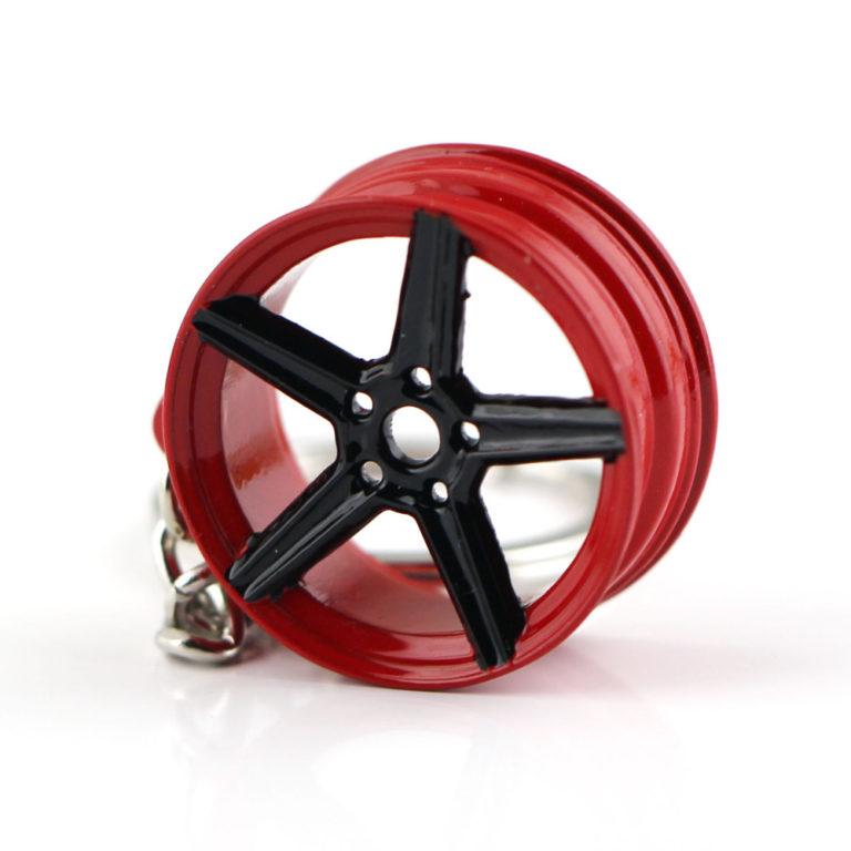 MB Design Rims Keyring Red and Black