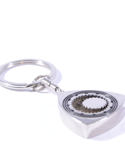 Moving Rotary Wankel Engine Silver Keyring 2