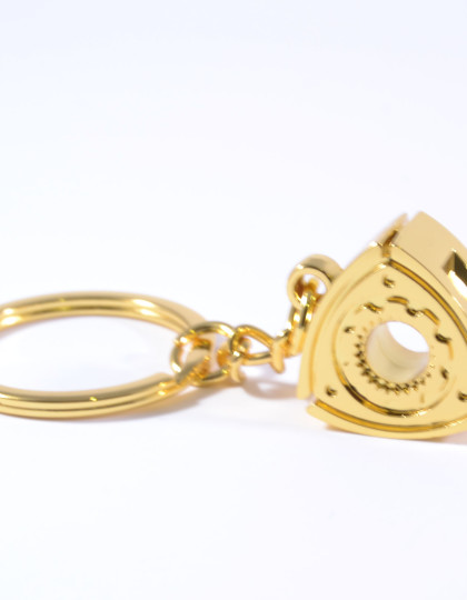 Rotary Wankel Engine Gold Keyring