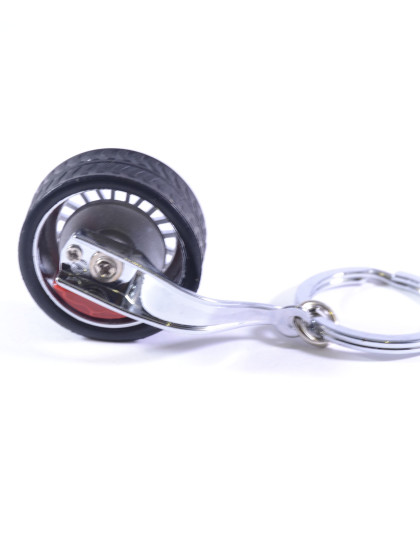 Spinning Tyre Wheel with disc brake insert keyring 2
