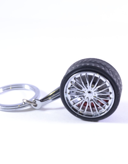Spinning Tyre Wheel with disc brake insert keyring