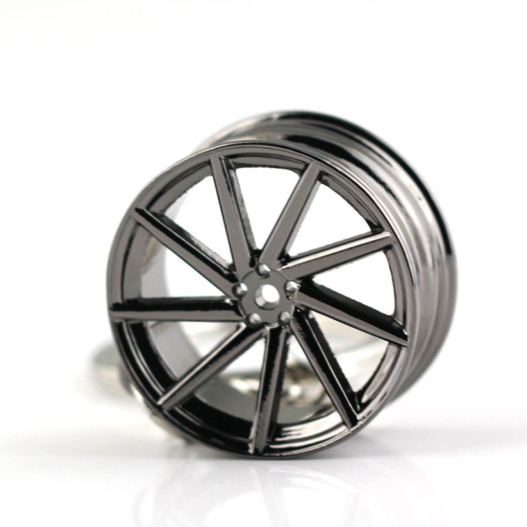 VOSSEN Black 9 Spoke Chrome rims Keyring