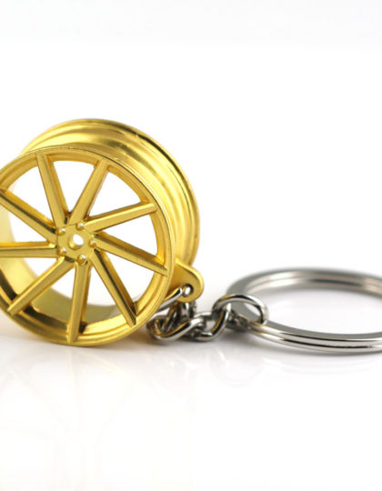 VOSSEN Gold 9 Spoke Chrome rims Keyring