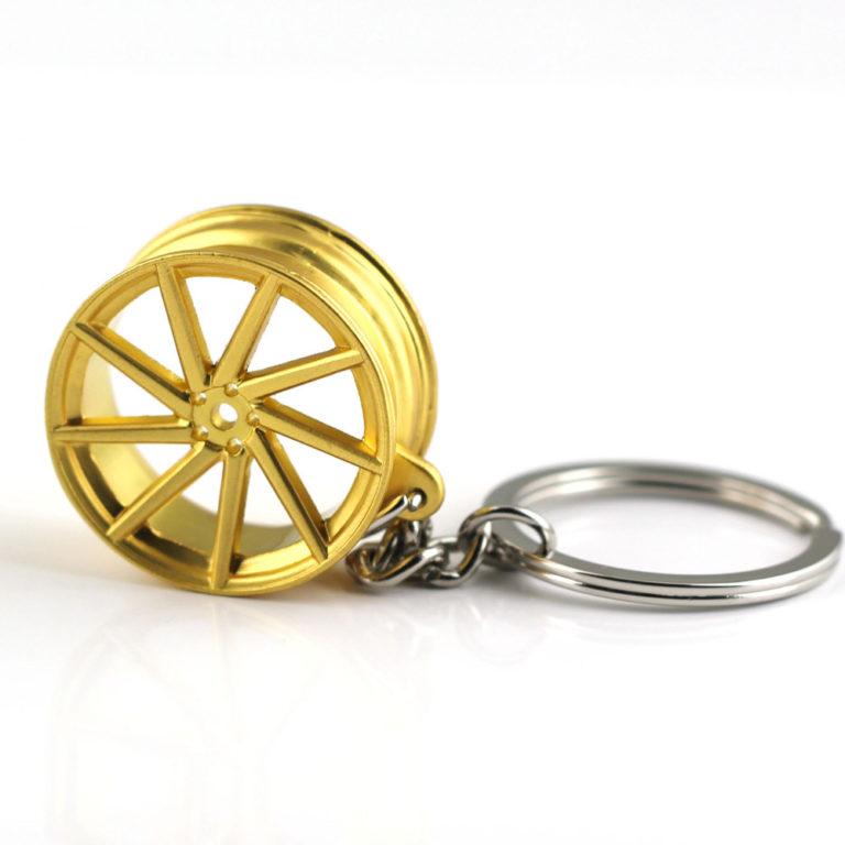 VOSSEN Gold 9 Spoke Chrome rims Keyring