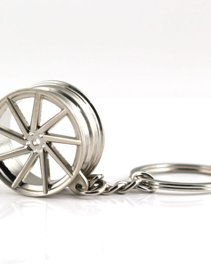 VOSSEN Silver 9 Spoke Chrome rims Keyring