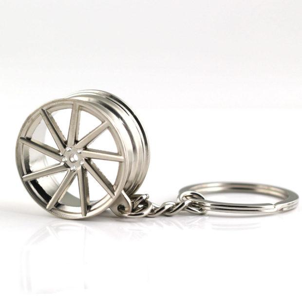 VOSSEN Silver 9 Spoke Chrome rims Keyring