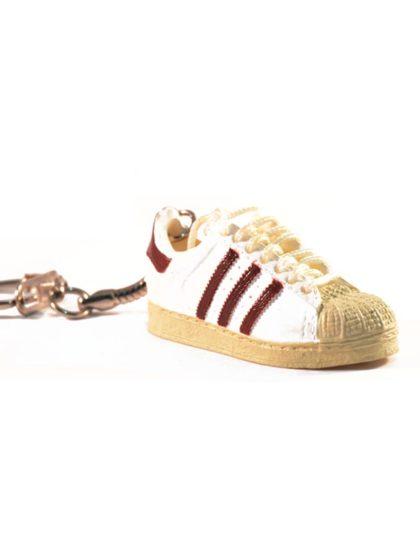 adidas superstar trainer keyring white brown