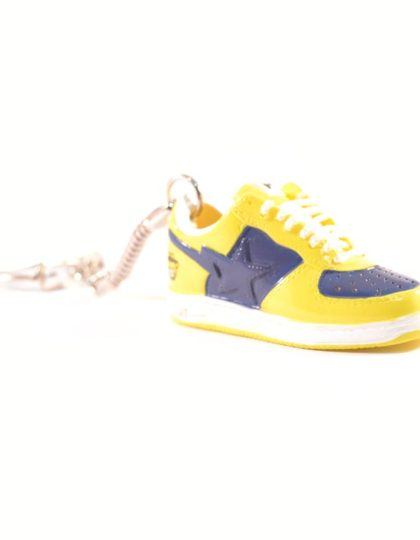 3D Nike Air Force 1 Yellow Blue