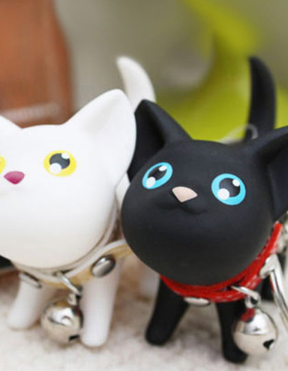 Cat kitten lover keyring
