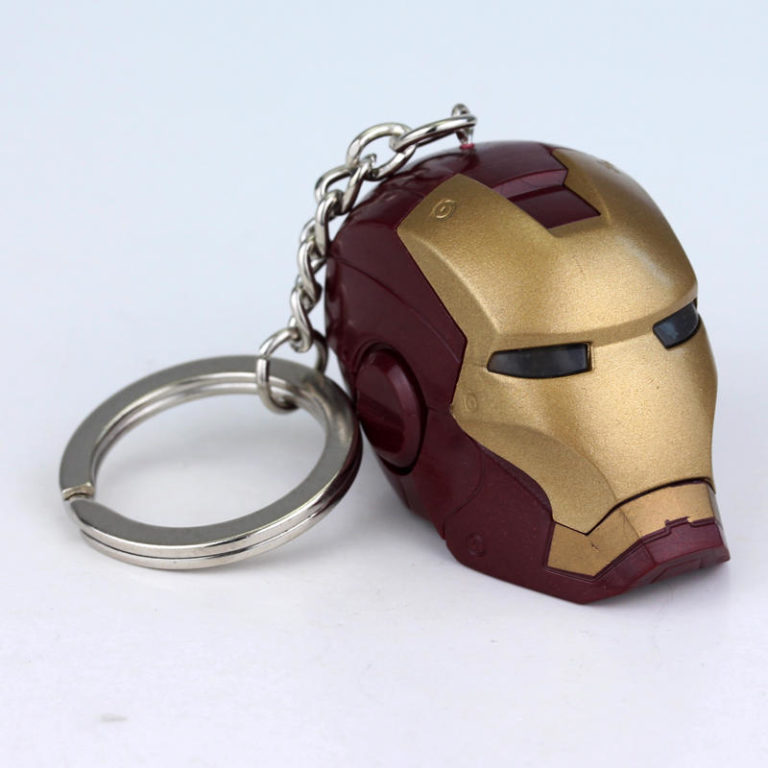 Iron Man 3D Head helmet face mask Keyring