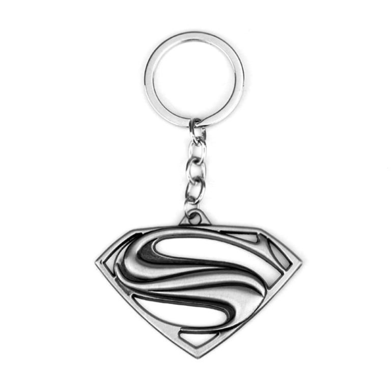 Superman Logo Keychain silver