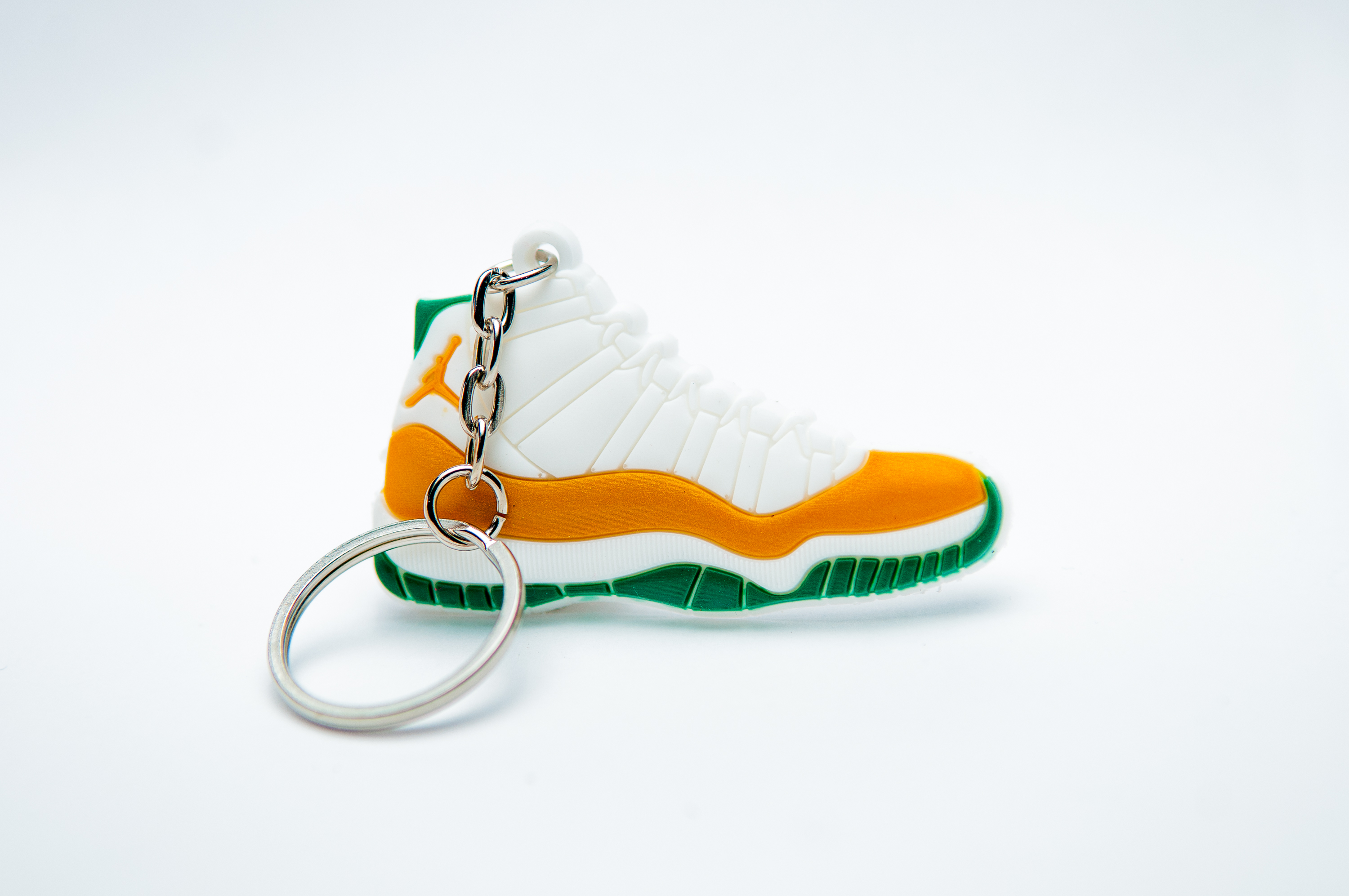 the latest d89ca 3414c Nike Air Jordan 11 Retro White Orange Green - Kool Keyrings