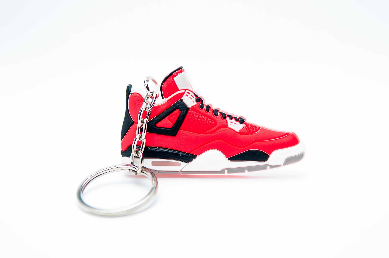 first rate 29d6c 3face Nike Air Jordan 4 Retro Red Black - Kool Keyrings