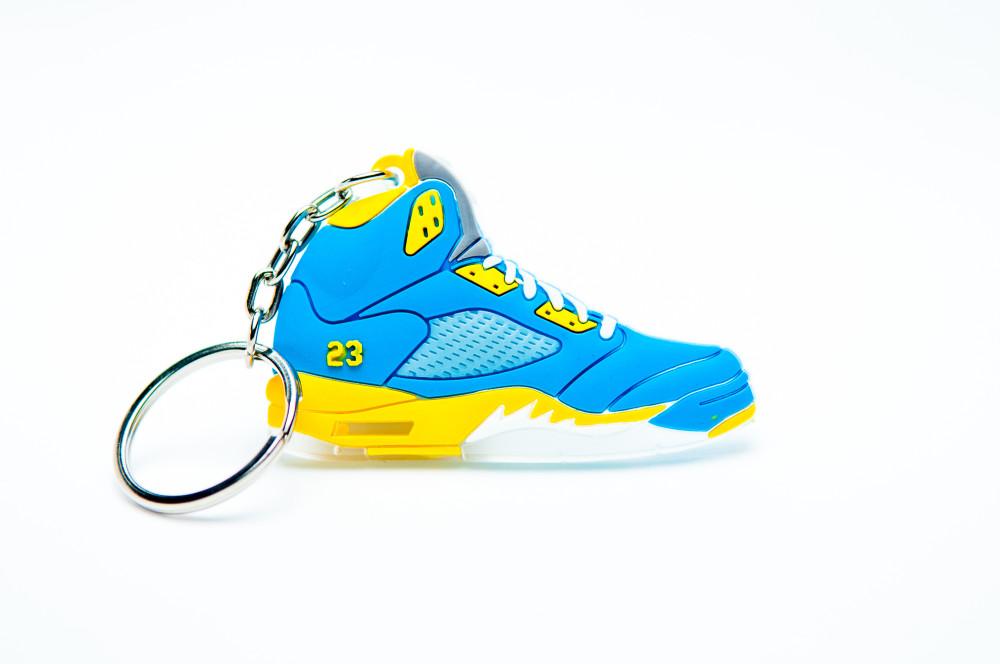 uk availability 8b077 d243c Nike Air Jordan 5 Retro Blue and Yellow 23 - Kool Keyrings