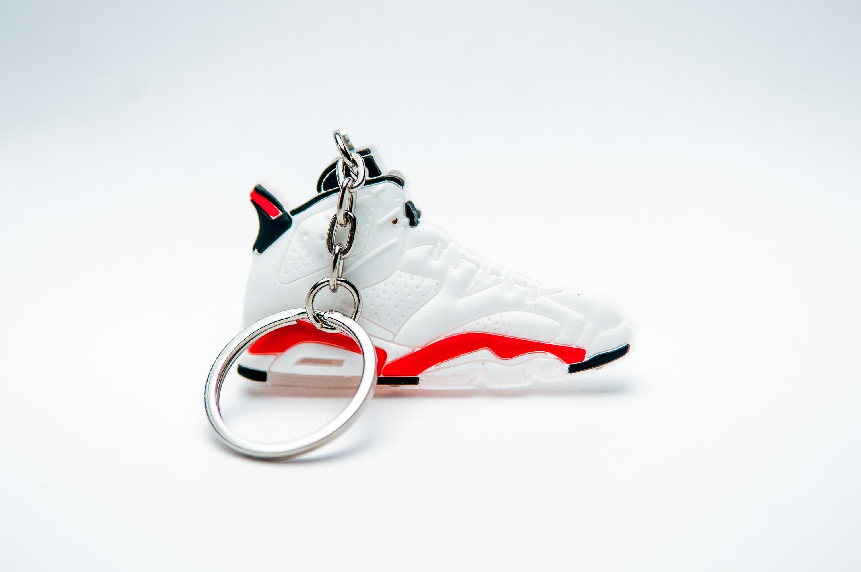 separation shoes a02d8 b0e44 Nike Air Jordan 6 Retro White Infrared - Kool Keyrings