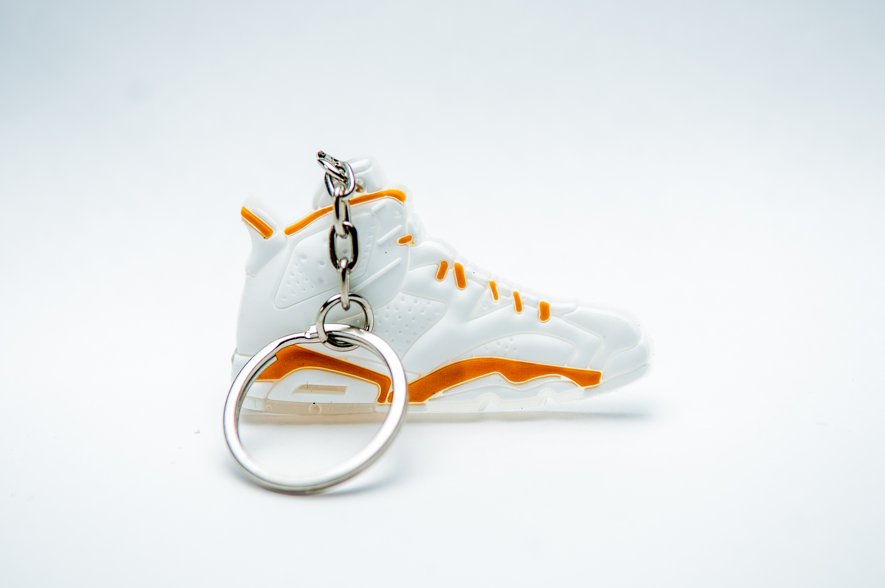 separation shoes f5873 75bd9 Nike Air Jordan 6 olympic Retro 6 Shoes White/Gold - Kool Keyrings