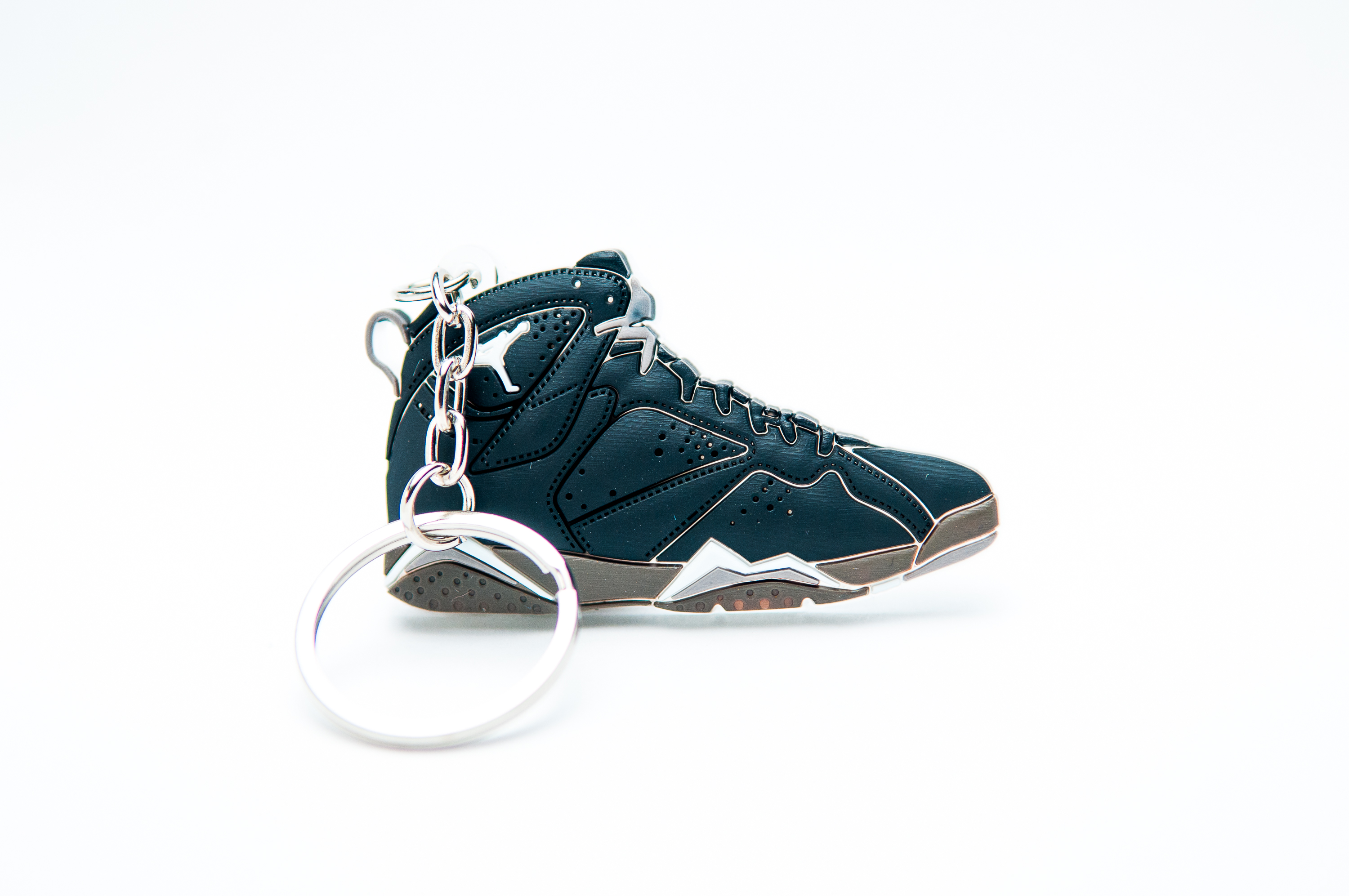 low priced 60996 98938 Nike Air Jordan 7 Retro Black White - Kool Keyrings