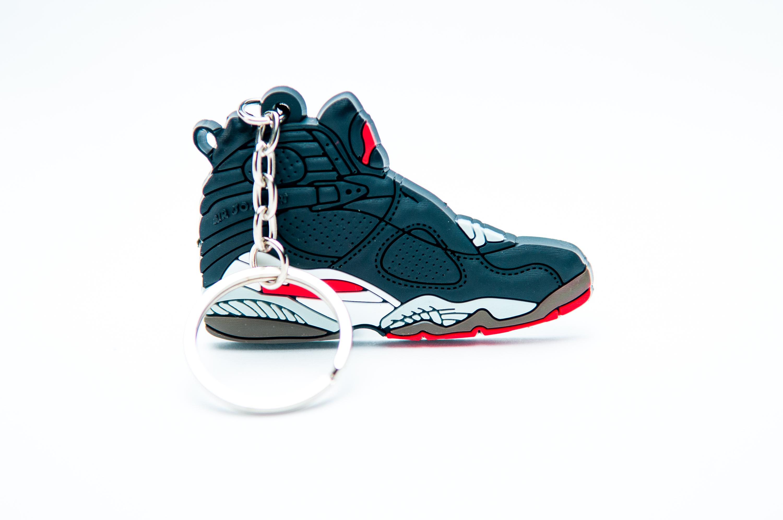 reputable site 52ae3 d5e12 Nike Air Jordan 8 Retro Black Red - Kool Keyrings