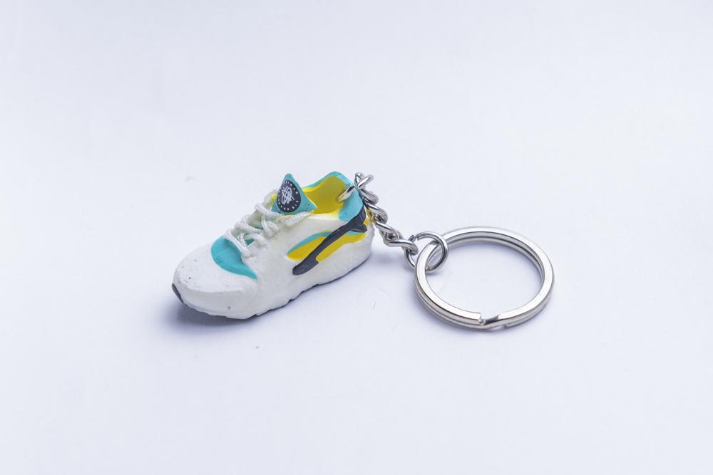 timeless design 87503 adbd2 3D Nike Air Huarache OG Green Yellow Trainer Keyring - Kool Keyrings